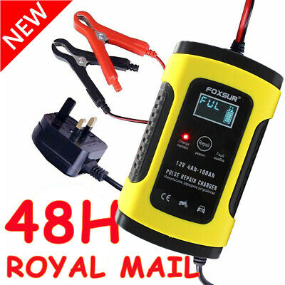 Smart Car Battery Charger 12V Automatic Pulse Repair Motorcycle LCD Display UK