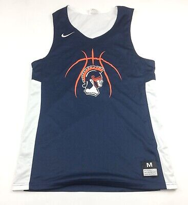 df47a990 New Nike Trojans Reversible Basketball Men's Jersey White Navy Pick Size  Number