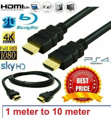 HDMI Cable v2.0 4K Ultra HD 0.5m 1m 2m 3m 5m 7m 10m  High Speed 2160p 3D Lead