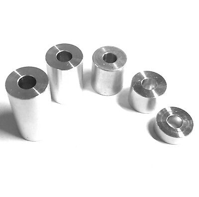 Aluminium Spacers - Stand off Collar Bar Turned Bonnet Raisers M4 M5 M6 M8 M10