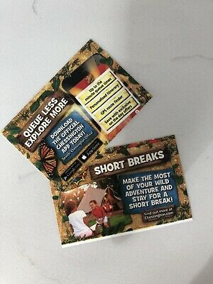 Chessington World Of Adventure Tickets Tuesday 9th July 2019 X 2