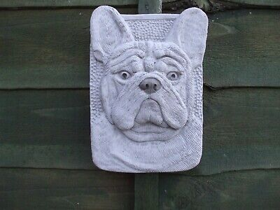 Stone Wall Plaque Of A French Bulldog  Dog Dogs Heads