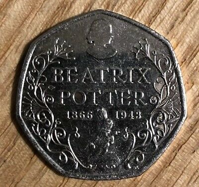 50p Coin - Beatrix Potter 150th Anniversary - Fifty Pence RARE 2016 Collectable