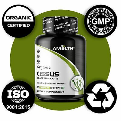Organic Cissus Quadrangularis Powder 90 Veg  Capsule 1000mg  NO FILLER