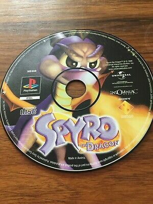 Spyro The Dragon Sony Playstation 1 PS1 PSX Black Label UK PAL GAME DISC ONLY