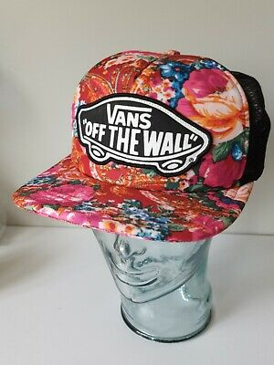 33428c233bd547 VANS Off the Wall Patch hat cap Snapback logo Skate full trucker - funky  floral