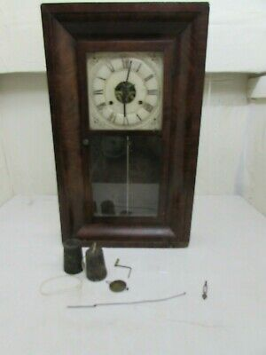 Antique Seth Thomas American Ogee Wall Clock For Spares or Repairs, Bell Strike
