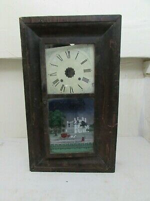 Antique American Ogee Wall Clock Jerome & Co. Conneticut, For Spares/Repairs