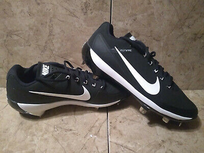 6bb52b8ed48e New - Nike Air Clipper Size 11 Metal Baseball Cleats Black White Low Flywire