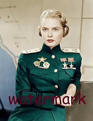 Janet Leigh Actress/Singer/Dancer In Military Uniform Hair Roll Publicity Photo