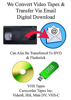 VHS Tapes To DVD Transfer Service To Email - Digital Download
