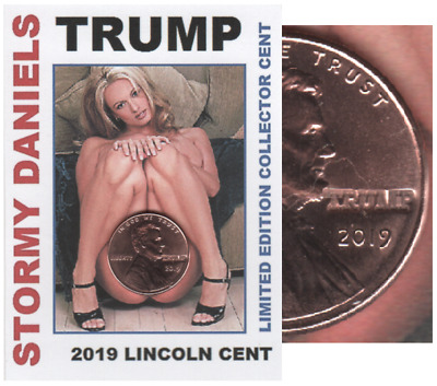 2019 Lincoln Cent Stormy Daniels Trump LIMITED EDITION Keepsake Coin Card DJT19B
