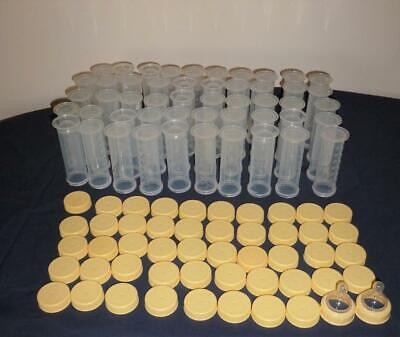 Huge Lot of 50 Medela 80ml/2.5 oz Storage or Freezing Bottles and Covers! 100 PC