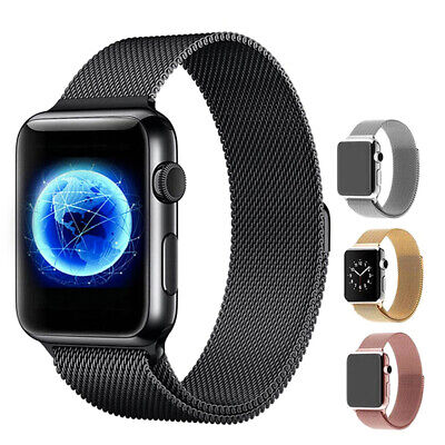 For iWatch Apple Series 4 3 2 1 Milanese Magnetic Watch Band 44mm 42mm 40mm 38mm