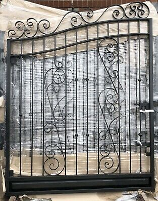 Wrought Iron Swing Gate Galvanised For 3.4 - 3.5 Meter Opening