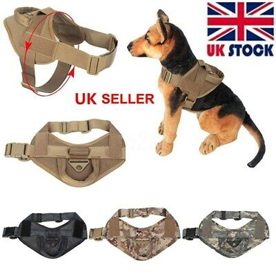 Dog Black Vest Tactical Military K9 Service Nylon Police Patrol Harness