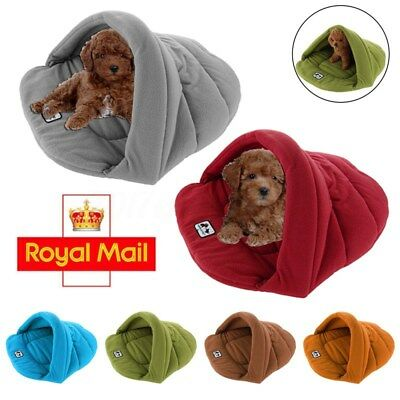 Pet Dog Cat Warm Soft House Nest Bed Sleeping Bag Mat Pad Kennel Cushion  !