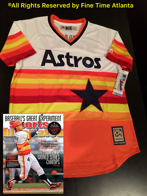 half off 67a3e 0b032 NEW GEORGE SPRINGER Houston Astros Mens 1975-1981 Style Cooperstown Retro  Jersey