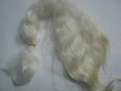 Reborn Doll mohair NATURAL UNDYED Wavy. approx 7gm  (1/4oz)