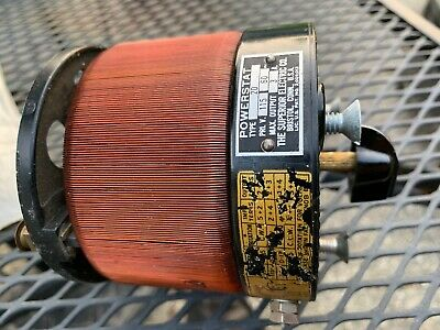 Superior Powerstat Type 20 Variable Autotransformer Untested
