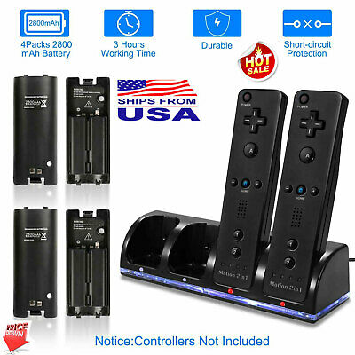 Charger+ 4Pack Rechargeable Battery & Game Controller for Nintendo Wii Remote