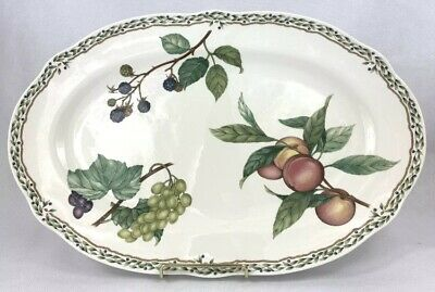 Noritake Royal Orchard Fruit Pattern Serving Platter Oval Plate 9416 FREE SHIP!