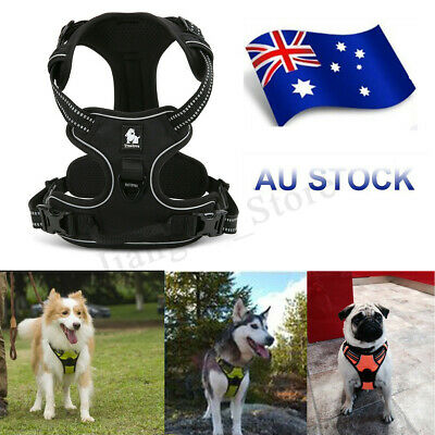AU Luxury No Pull Dog Harness 3M Reflective Outdoor Pet Vest Padded Clip Handle