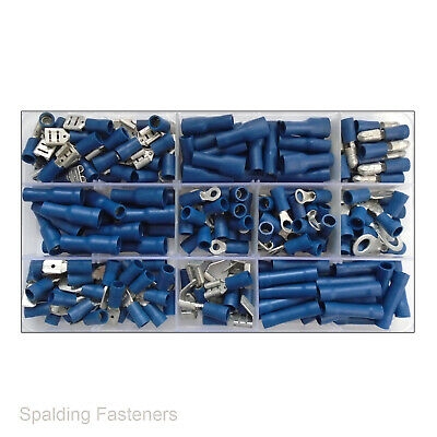 Assorted Blue Terminals, Butt,Spade,Female,Male,Fork,Ring,Piggyback,Bullet,Tab