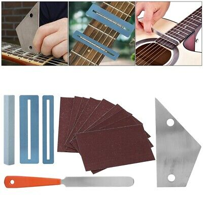 Guitar Fret Crowning Luthier File Leveling Grinding Tool Kits With Sanding Paper