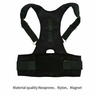 Adjustable Magnetic Flex Posture-Corrective Therapy Back Lumbar Brace Men Women