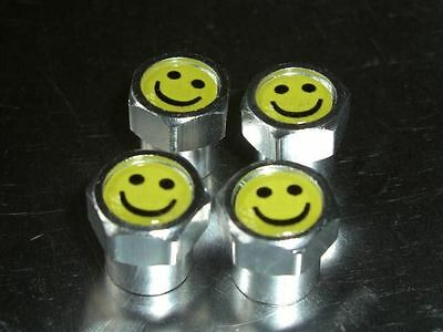 Smiley Face Acid 90'S Logo Alloy Car Tyre Valve Caps