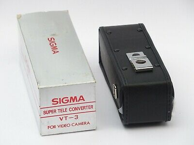 SIGMA VT-3 Super tele Converter  for video camera boxed with accesories and case