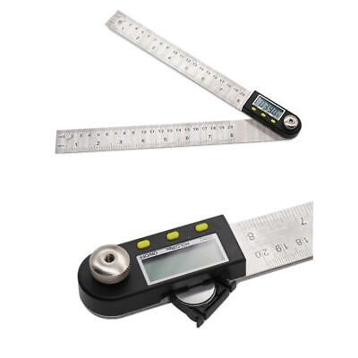 2 in 1 Digital Angle Finder Meter Folding Ruler Measurer 300MM 360° Protractor