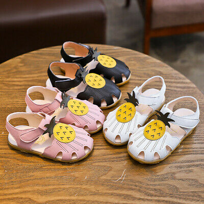 Toddler Infant Baby Girls Pineapple Shoes Summer Princess Shoes Sandals 21-30