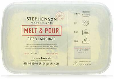 Stephenson's Soap 1kg Melt and Pour Soap Base - Clear Best Price Free P&P UK