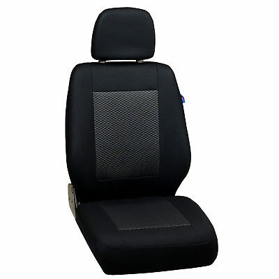Schwarz-Graue Triangles Seat Covers Iveco Eurotrakker Car Seat Cover Driver