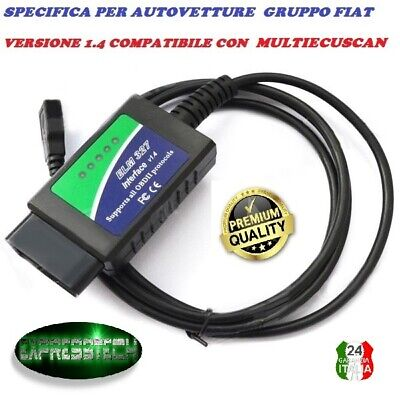 Diagnosi Ecuscan Fiat Alfa Elm Multi Elm 327 1.4 Modificata Linea Can Obd2 Body