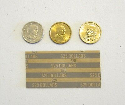 20 Presidential Dollars Coin Wrappers  Sacagawea Dollar Paper Coin Wrapper