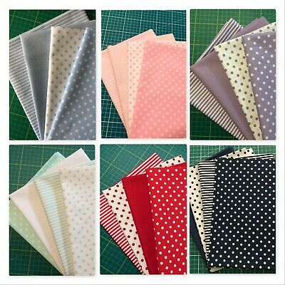 X-Large Fq Fat Quarter Bundles 100% Cotton Red Blue Lilac Green Pink Navy
