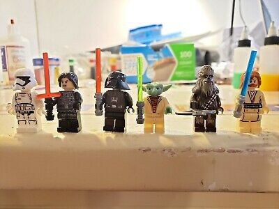 1 Set of Mini-figure XRAY markers(1 R and 1 L)  with Initials/number  Star Wars