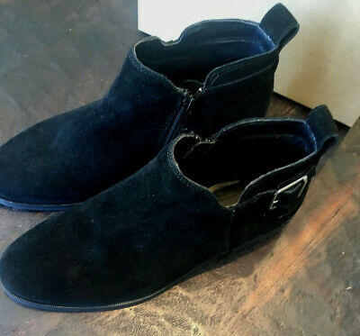 d871b50fc342c UGG Kelsea Suede Ankle Bootie 1092535 Black Women' SIZE 8 Buckle NEW WITH  BOX