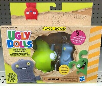 *UGLY DOLLS MOVIE* Squish & Go Sharwhal Figure & Mobile 2019 UglyDolls NEW