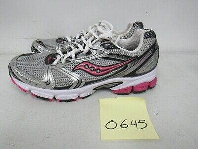 fa73f88e Womens Saucony Grid Stratos 5 Gray White Pink Running Shoes Size 9M O645