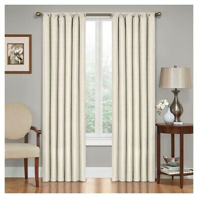 """Kendall Thermaback Blackout Curtain Panel - Ivory - 42"""" x 63"""" - Eclipse Open Box"""