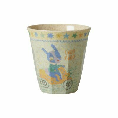 NEW RICE Kids Bamboo Melamine Cup - Race