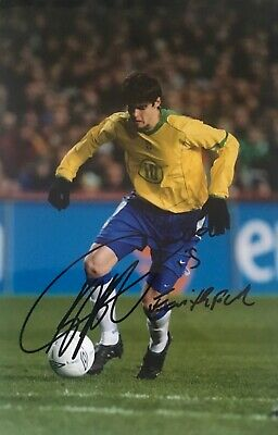 Kaka Brazil Brasil signed message 12x8 photo F UACC AFTAL Registered dealer COA