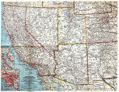 Vintage Map Of The Southwestern United States June 1940 National - National-geographic-us-map