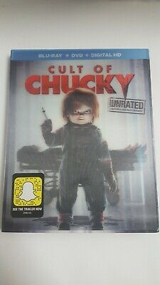 Cult of Chucky (Blu-ray Disc, 2017, 2-Disc Set)  W/Slip Cover*NO DIGITAL