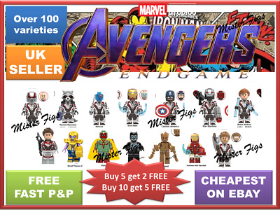 Avengers Minifigures Super Hero Mini figures Marvel ENDGAME Superhero Bricks TOY