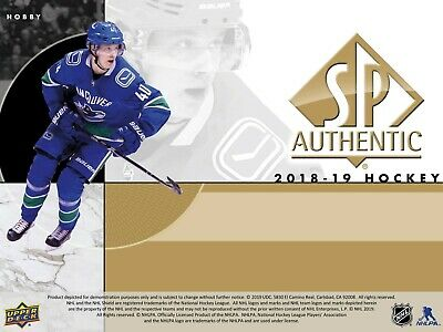 18-19 Upper Deck SP Authentic Base Cards (1-100) - You Pick From List